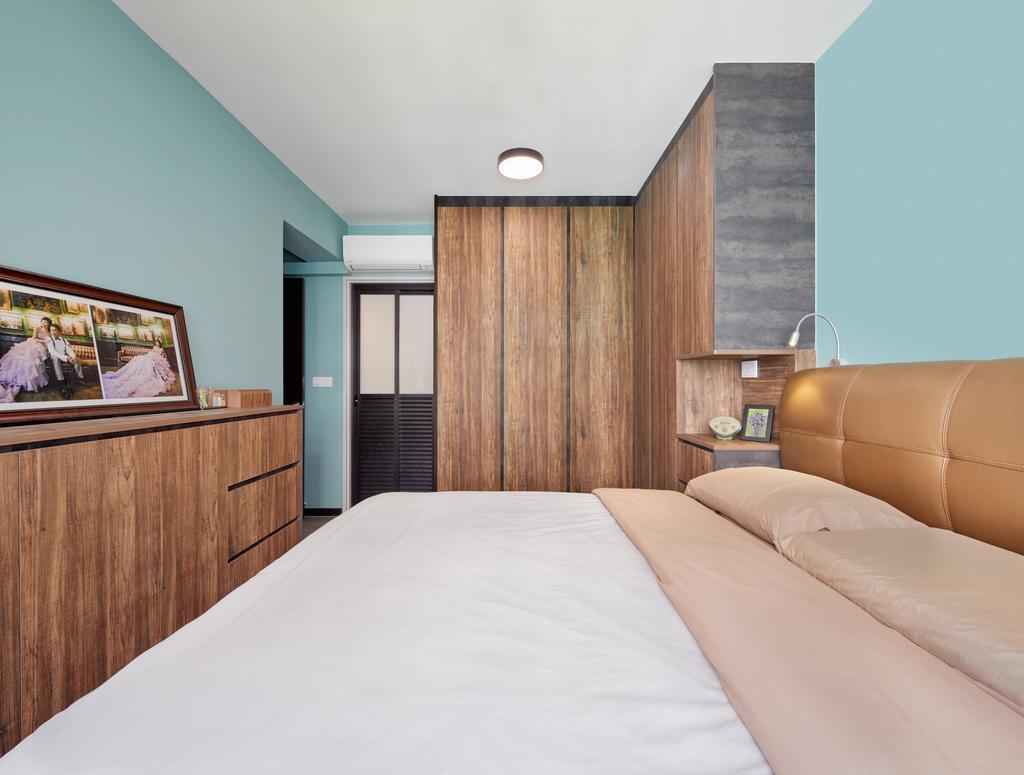 Contemporary, HDB, Bedroom, Woodlands Drive (Block 573C), Interior Designer, Absolook Interior Design