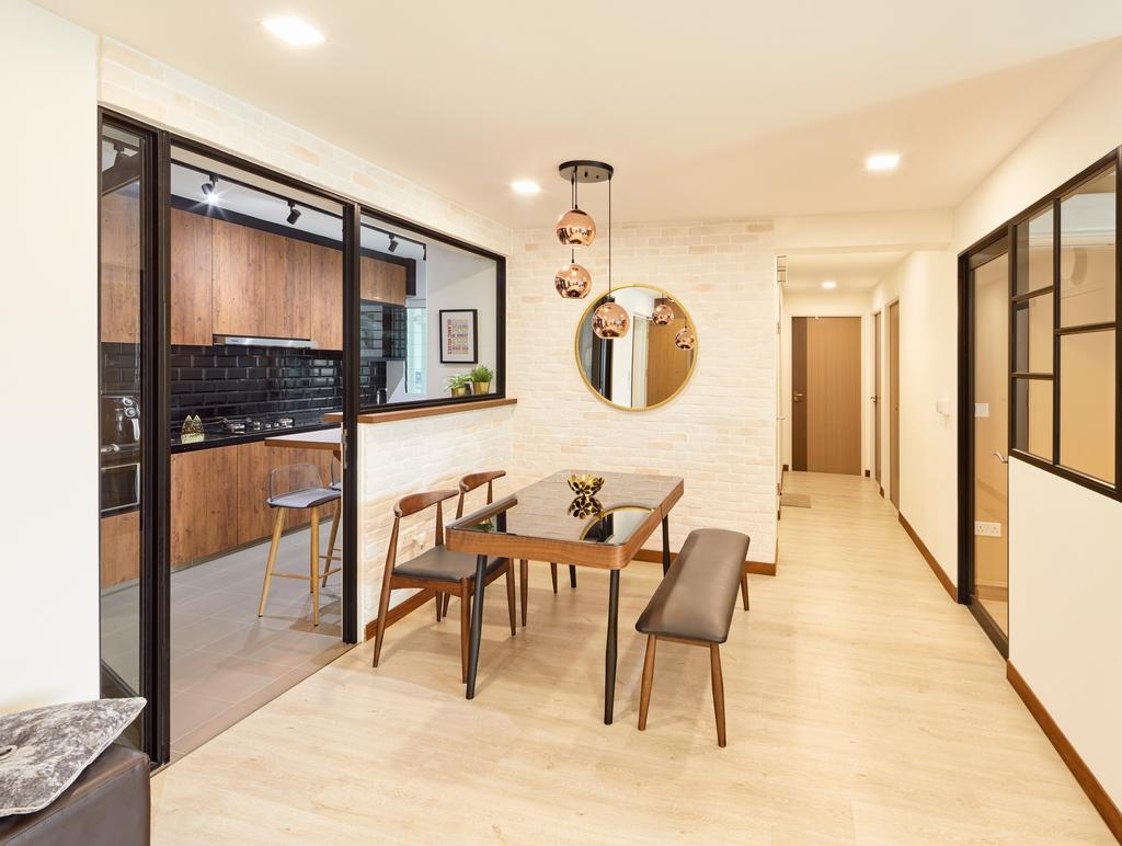 Contemporary, HDB, Dining Room, Edgefield Plains (Block 668B), Interior Designer, Absolook Interior Design