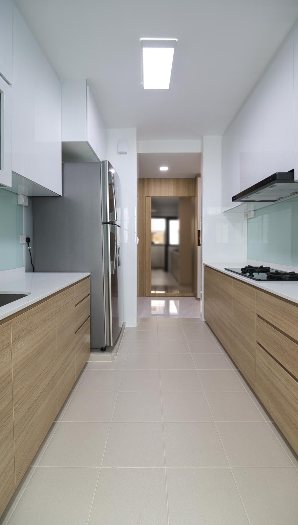 Contemporary, HDB, Kitchen, Edgedale Plains, Interior Designer, Swiss Interior Design
