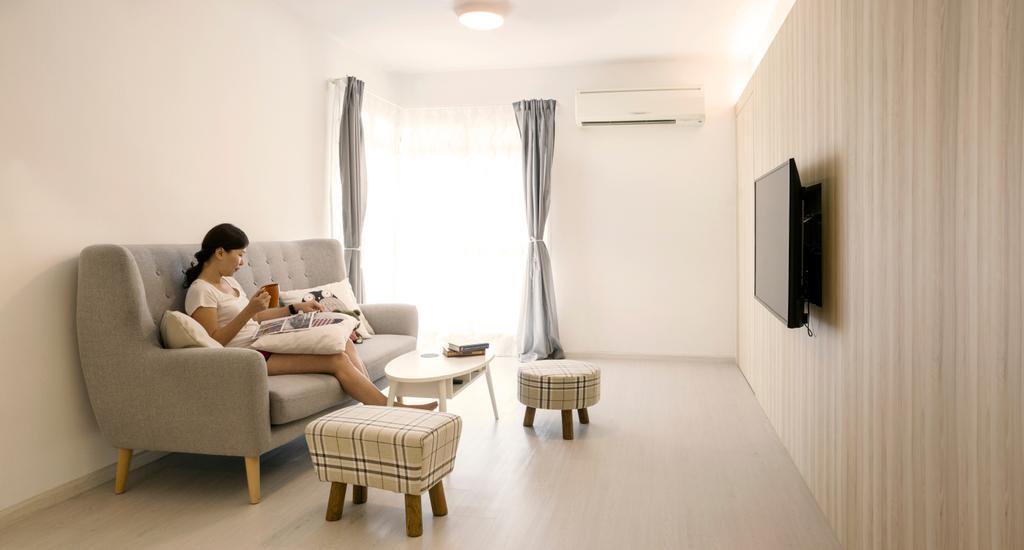 Scandinavian, HDB, Living Room, Admiralty Drive, Interior Designer, Swiss Interior Design