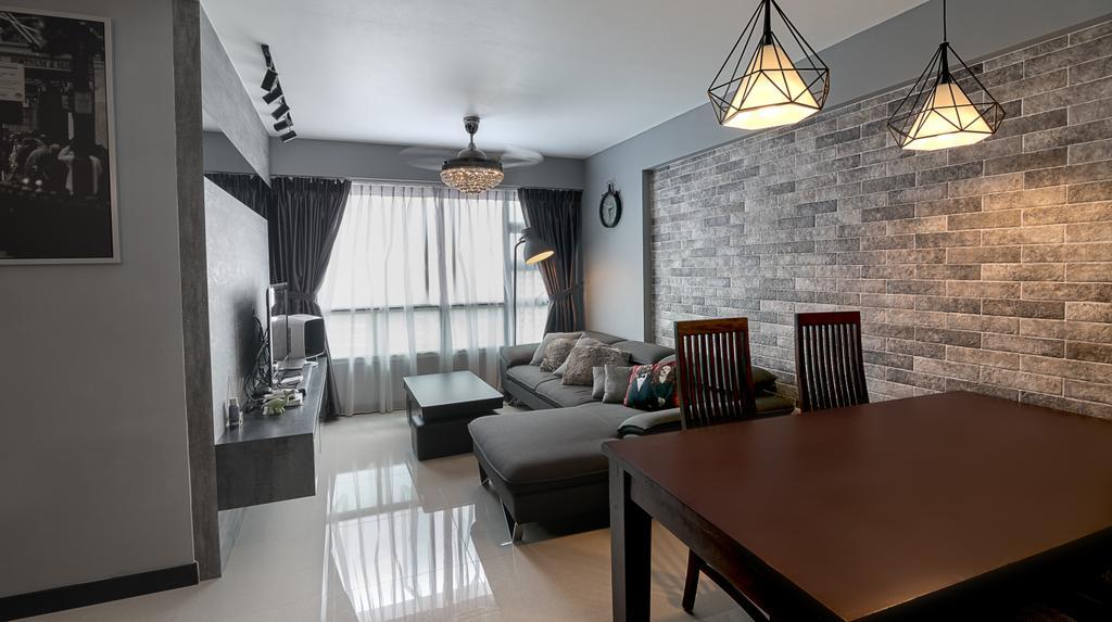 Contemporary, HDB, Living Room, Upper Serangoon Crescent, Interior Designer, Swiss Interior Design