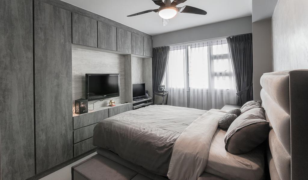 Contemporary, HDB, Bedroom, Upper Serangoon Crescent, Interior Designer, Swiss Interior Design
