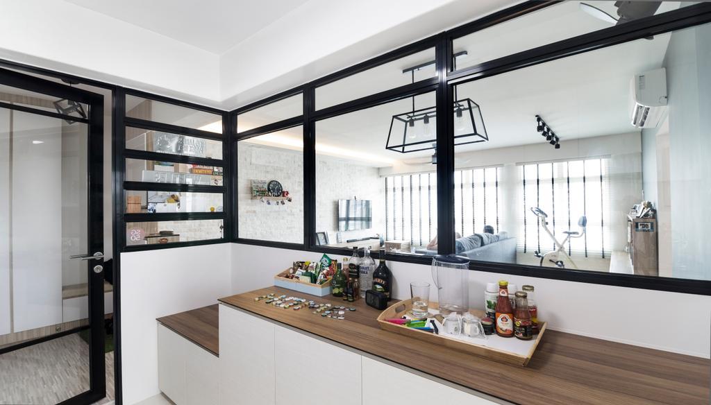 Contemporary, HDB, Kitchen, Punggol Drive, Interior Designer, Swiss Interior Design