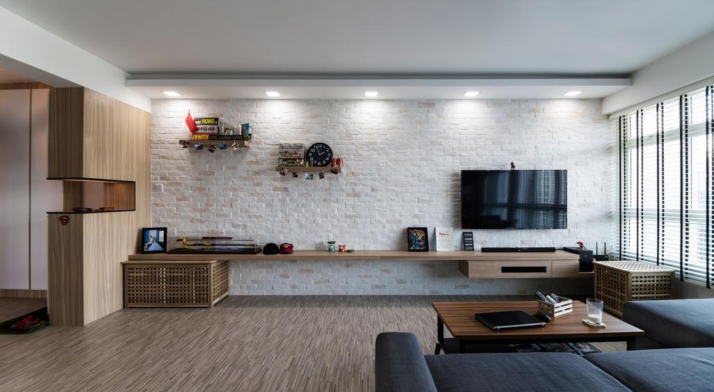 Contemporary, HDB, Living Room, Punggol Drive, Interior Designer, Swiss Interior Design