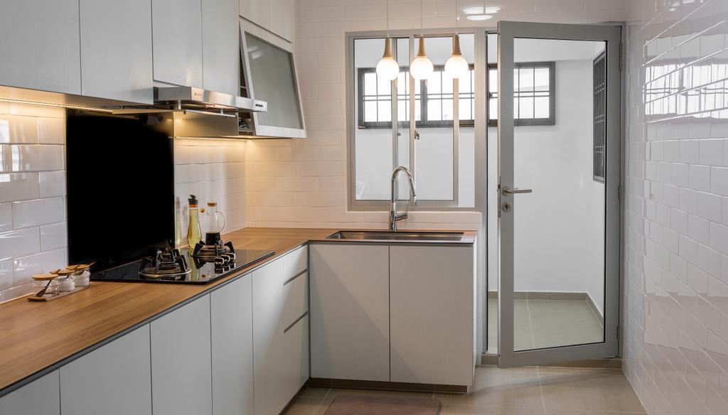 Contemporary, HDB, Kitchen, Hougang Avenue 9, Interior Designer, Swiss Interior Design
