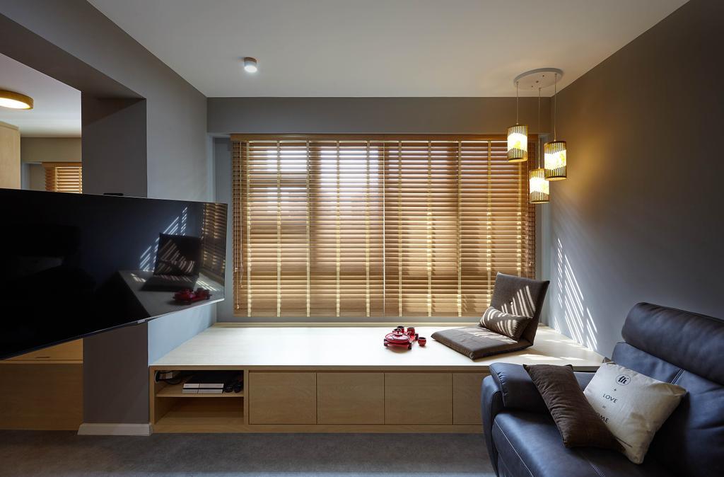 Minimalistic, HDB, Living Room, Ang Mo Kio Avenue 3, Interior Designer, D5 Studio Image