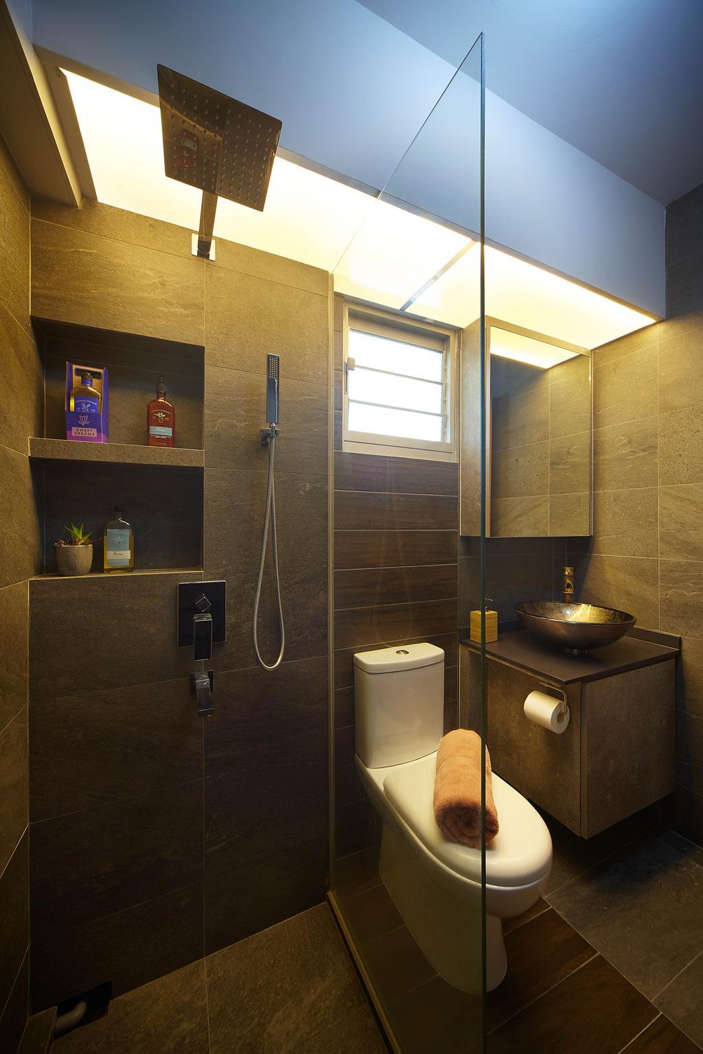 Minimalistic, HDB, Bathroom, Ang Mo Kio Avenue 3, Interior Designer, D5 Studio Image
