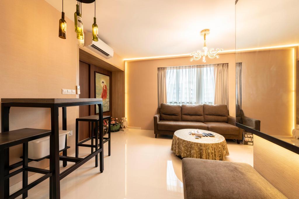 Transitional, HDB, Living Room, Clementi Avenue 1, Interior Designer, The Concept