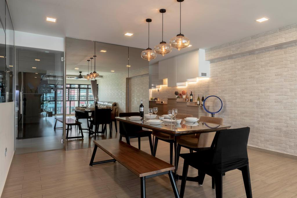 Contemporary, HDB, Dining Room, Jurong Street 64, Interior Designer, The Concept