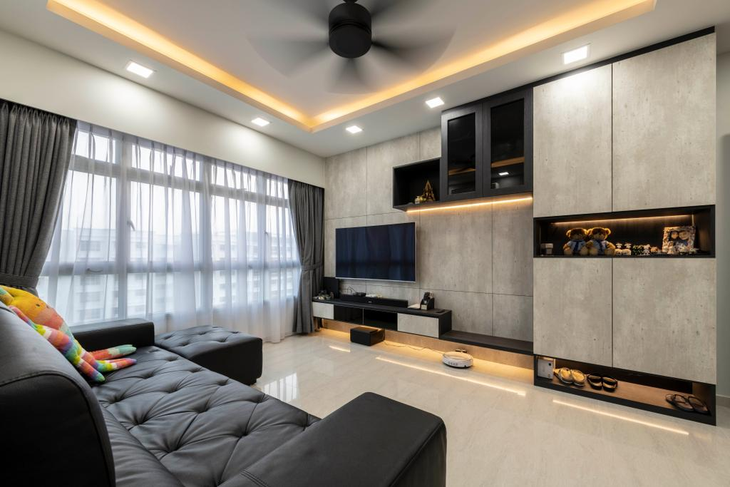 Contemporary, HDB, Living Room, Keat Hong Close, Interior Designer, The Concept