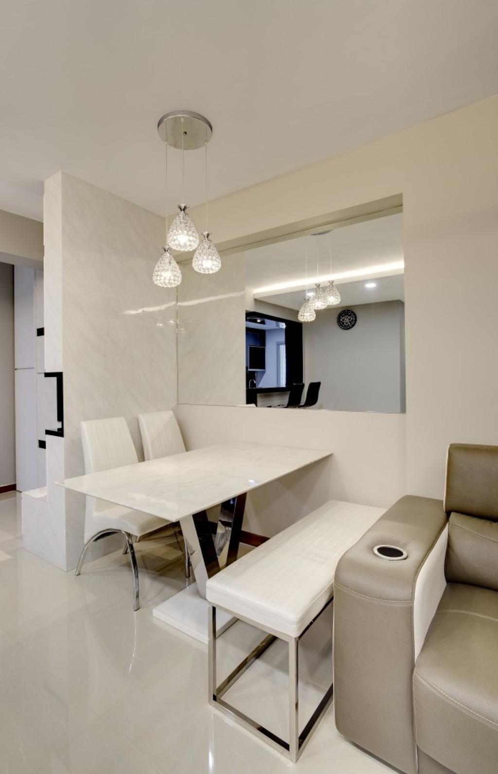 Contemporary, HDB, Dining Room, Segar Road (Block 461), Interior Designer, Design Profession