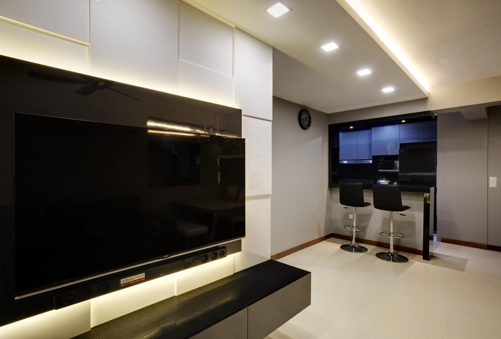 Contemporary, HDB, Living Room, Segar Road (Block 461), Interior Designer, Design Profession