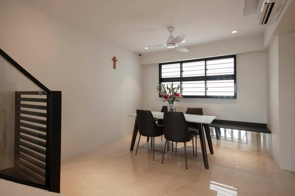 Contemporary, HDB, Dining Room, Yishun Street 71, Interior Designer, Dyel Design
