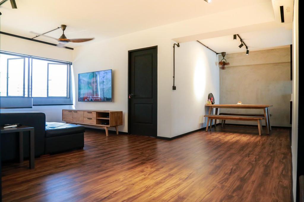 Contemporary, HDB, Living Room, Pasir Ris, Interior Designer, Laurus Design