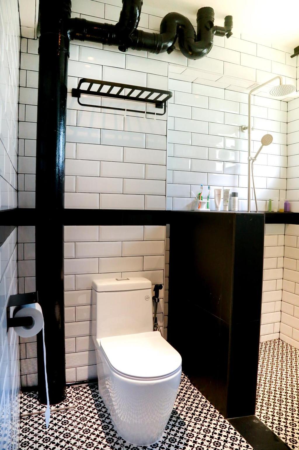 Contemporary, HDB, Bathroom, Pasir Ris, Interior Designer, Laurus Design