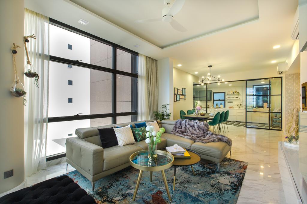 Contemporary, Condo, Living Room, River Place, Interior Designer, Home Philosophy
