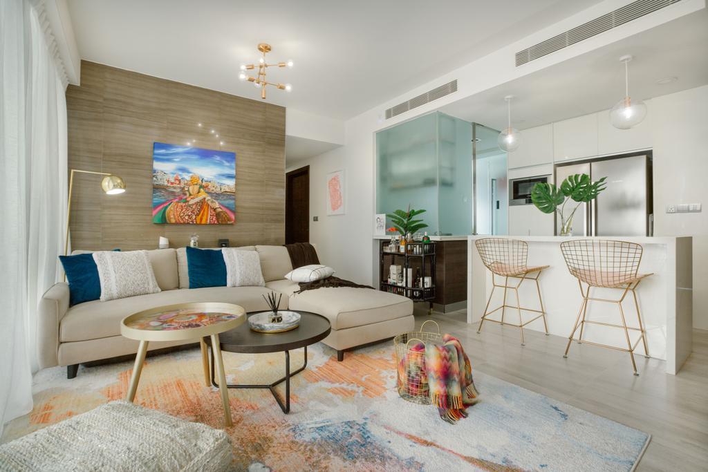 Contemporary, Condo, Living Room, Shore Residences, Interior Designer, Home Philosophy