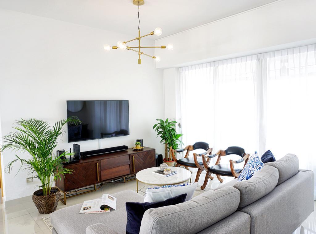 Contemporary, Condo, Living Room, Tiong Bahru Regency, Interior Designer, Home Philosophy
