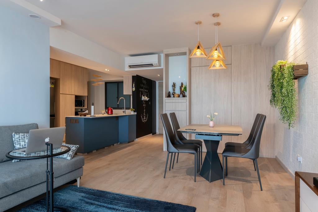Contemporary, HDB, Dining Room, Pinnacle @ Duxton, Interior Designer, Meter Square