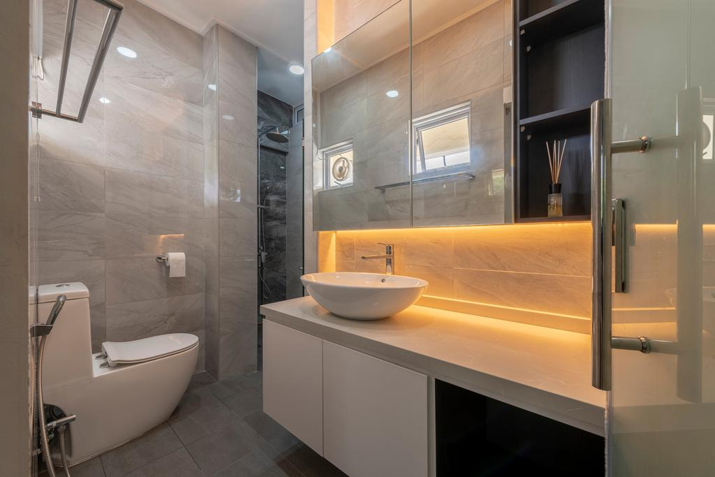 Contemporary, HDB, Bathroom, Jurong East Avenue 1, Interior Designer, The Two Big Guys