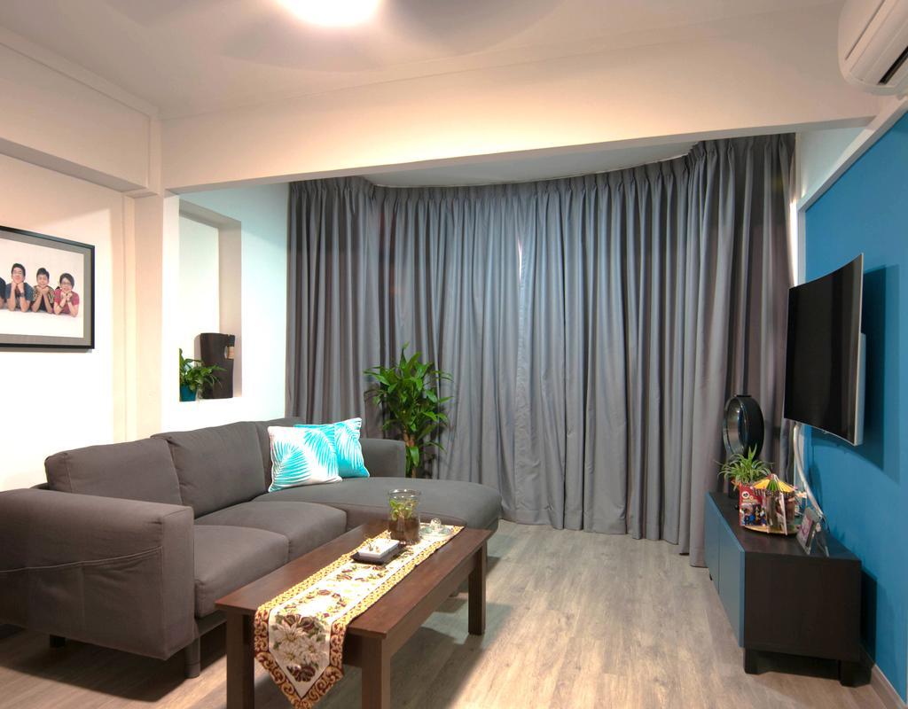 Contemporary, HDB, Living Room, Toa Payoh Lorong 1, Interior Designer, Seven Heaven
