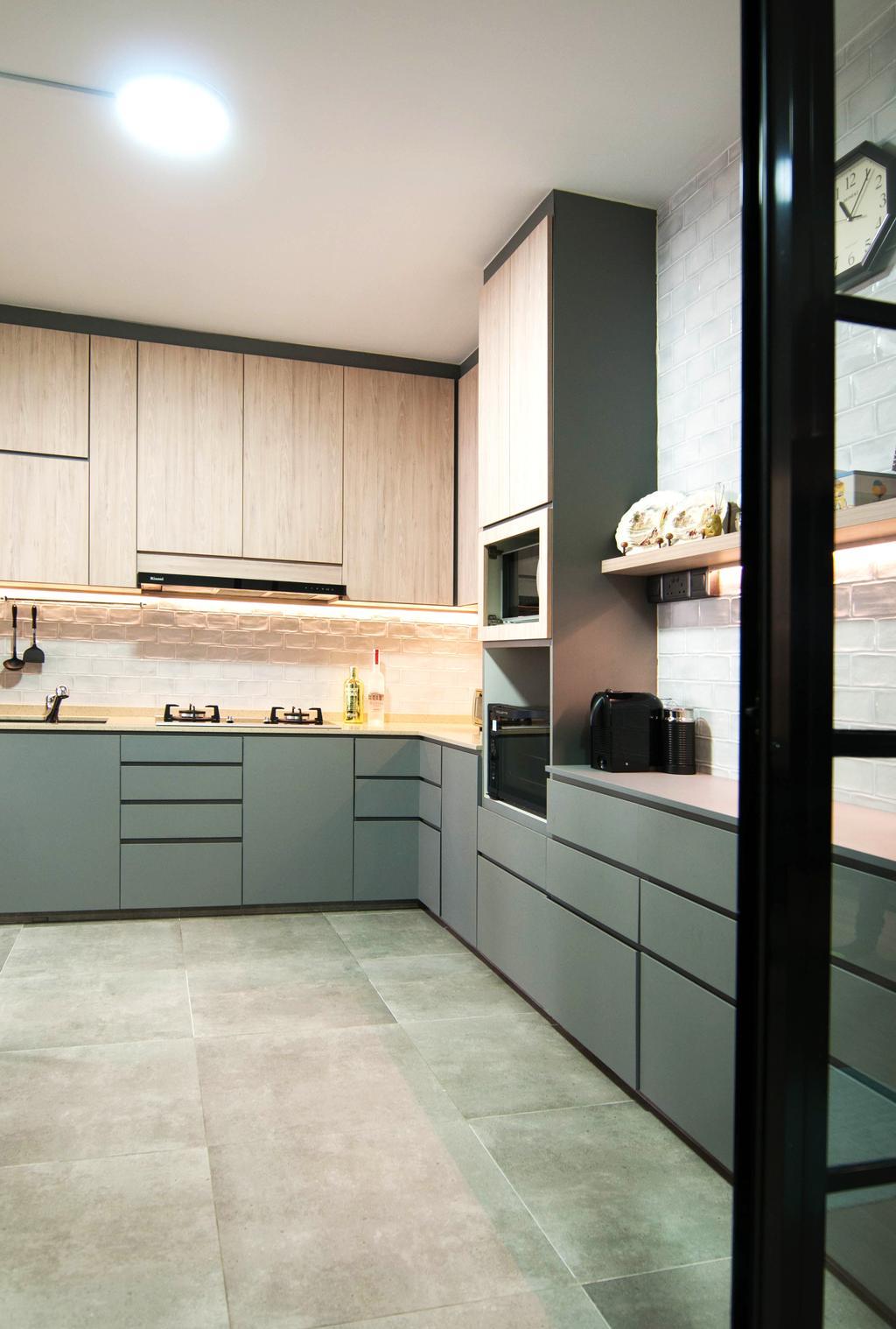 Contemporary, HDB, Kitchen, Toa Payoh Lorong 1, Interior Designer, Seven Heaven