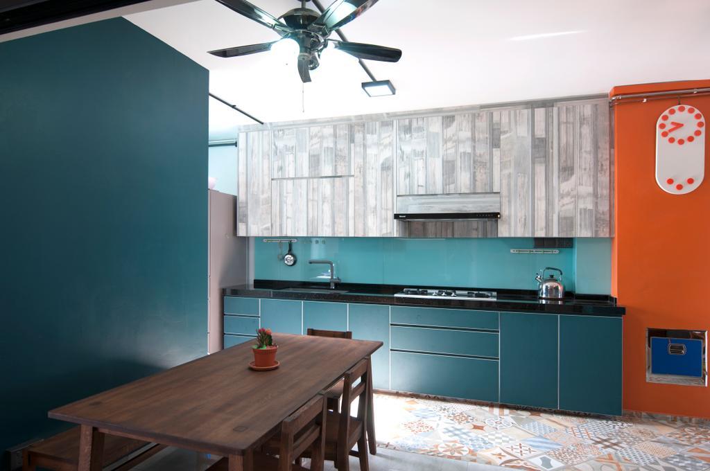 Contemporary, HDB, Kitchen, Yishun Street 81, Interior Designer, Seven Heaven