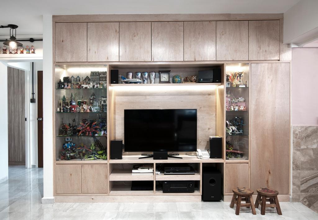 Contemporary, HDB, Living Room, Yishun Street 81, Interior Designer, Seven Heaven