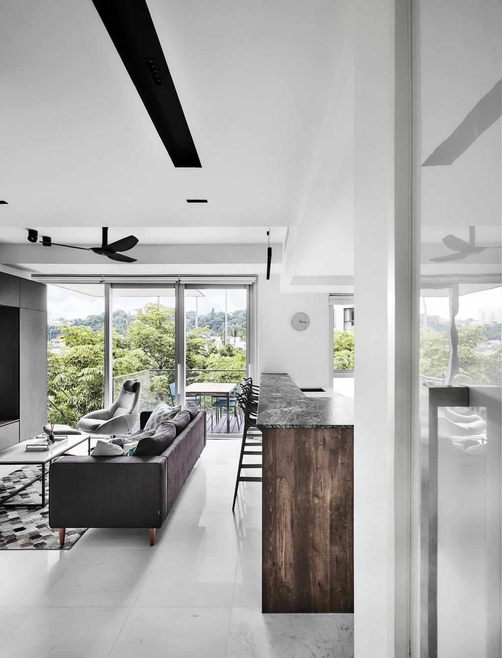 Contemporary, Condo, Living Room, Reflections at Keppel Bay, Interior Designer, Third Avenue Studio