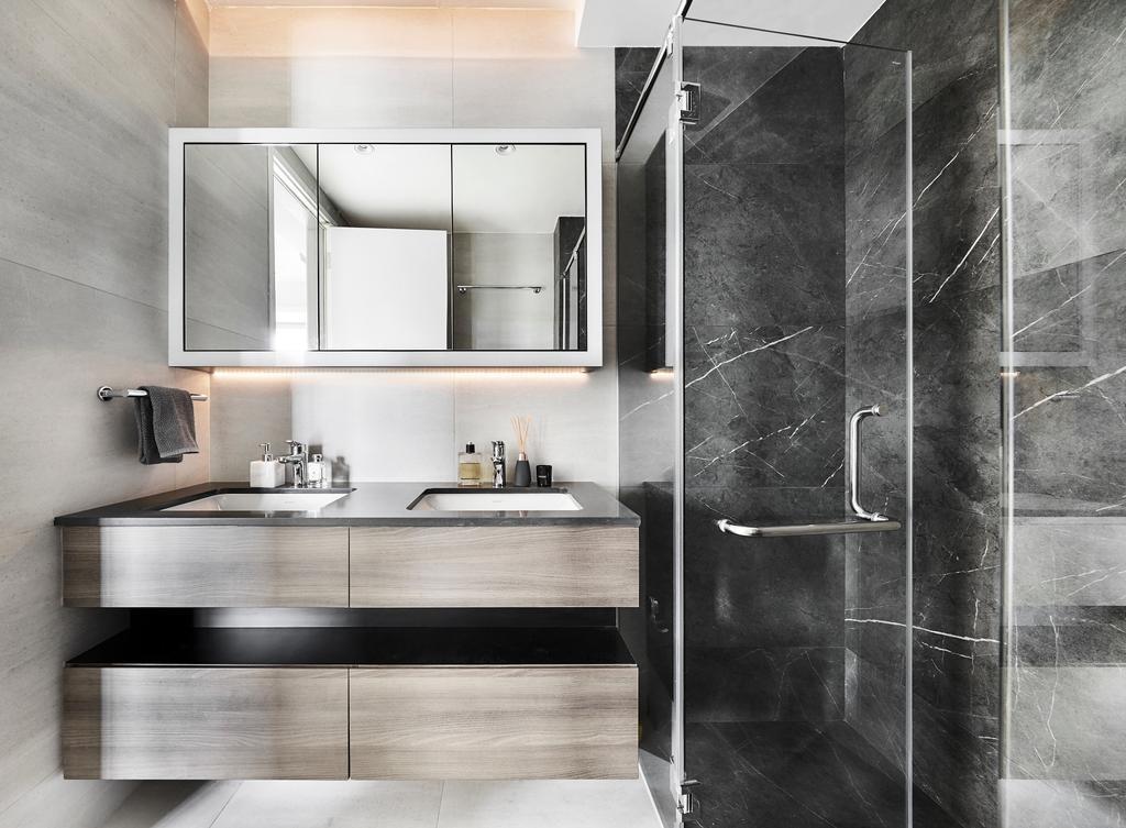 Contemporary, Condo, Bathroom, Reflections at Keppel Bay, Interior Designer, Third Avenue Studio