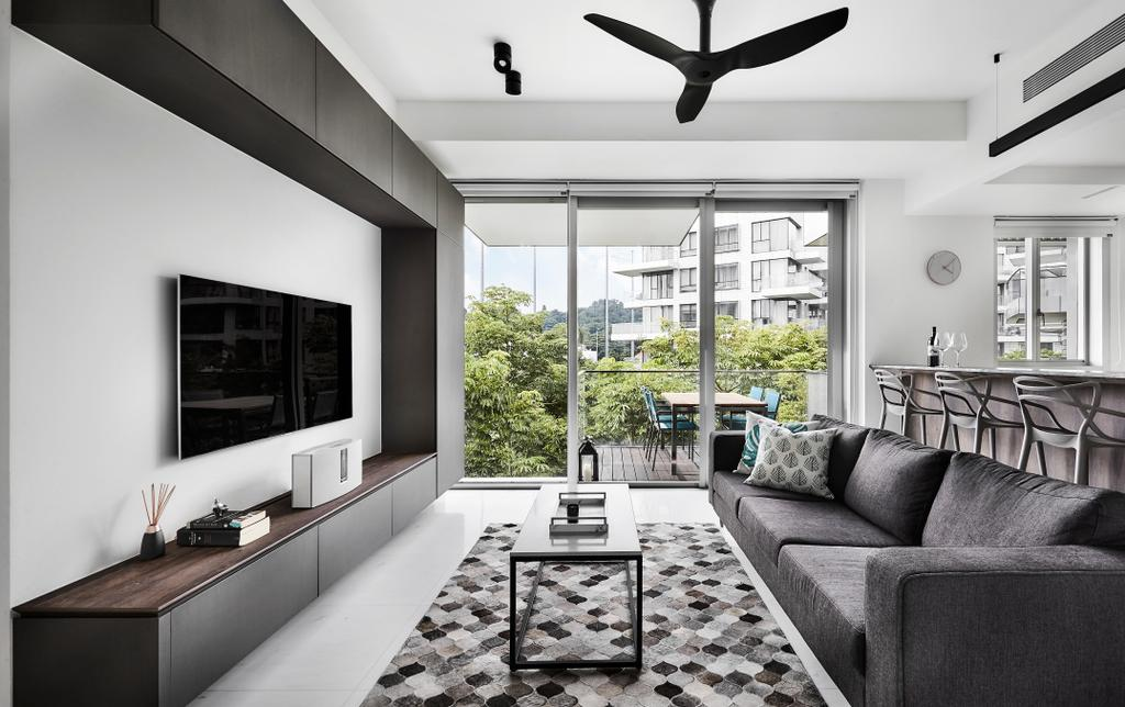Contemporary, Condo, Living Room, Reflections at Keppel Bay, Interior Designer, Third Avenue Studio
