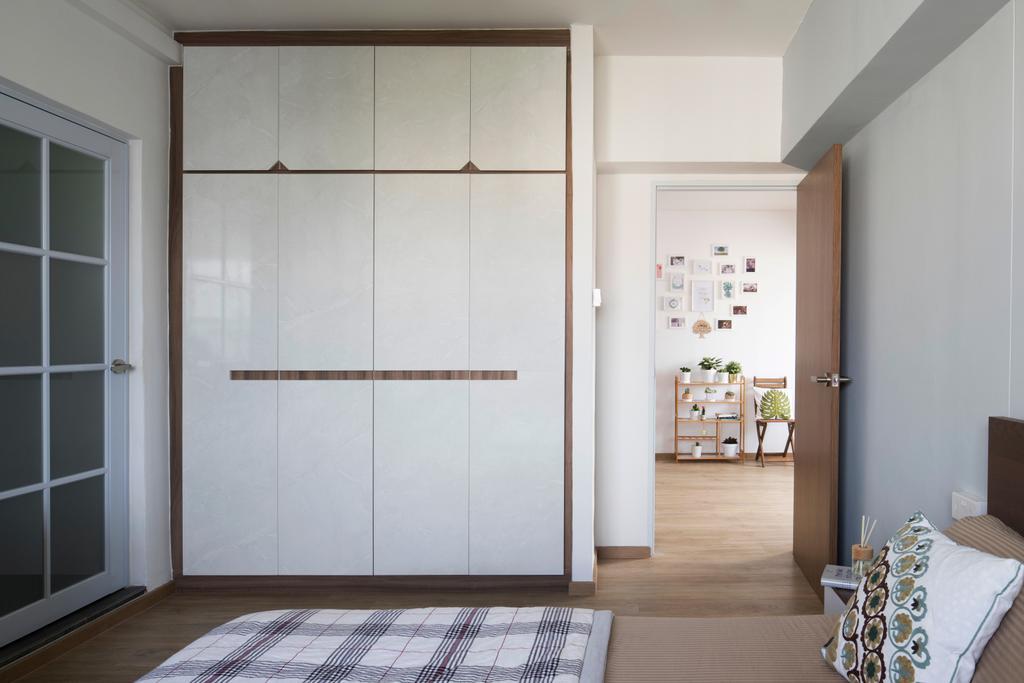 Modern, HDB, Bedroom, Rivervale Drive, Interior Designer, Aestherior