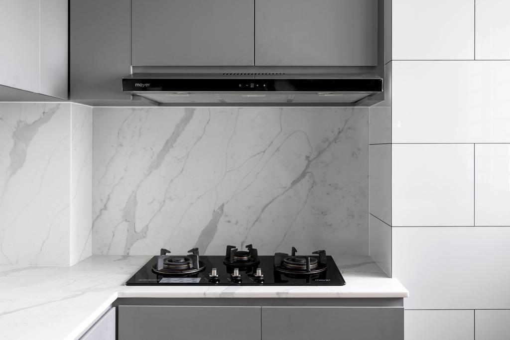 Scandinavian, HDB, Kitchen, Yishun Ring Road, Interior Designer, Voila, Contemporary