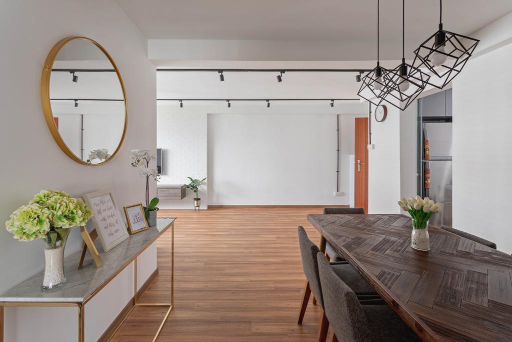 Scandinavian, HDB, Dining Room, Yishun Ring Road, Interior Designer, Voila, Contemporary