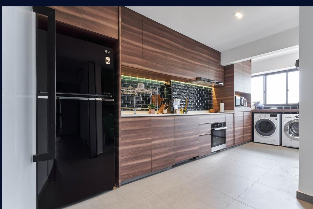 Contemporary, HDB, Kitchen, Boon Tiong Road, Interior Designer, Charlotte's Carpentry