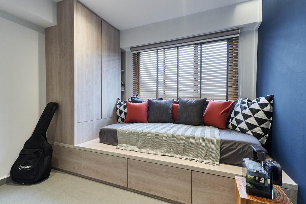 Contemporary, HDB, Bedroom, Boon Tiong Road, Interior Designer, Charlotte's Carpentry