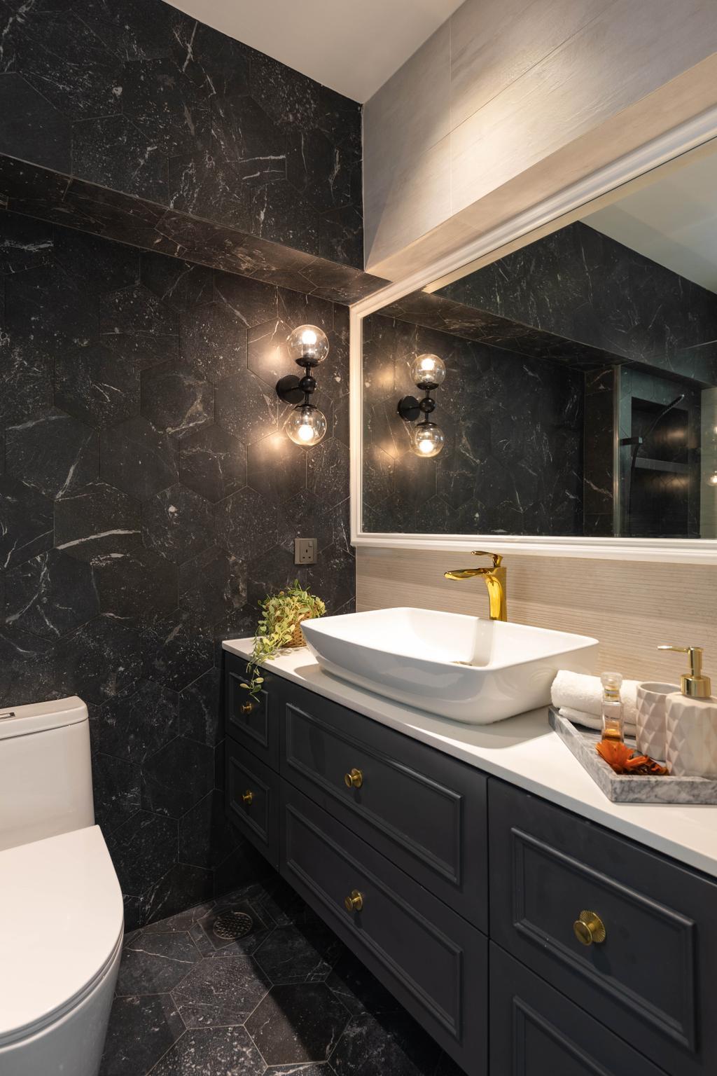 Contemporary, HDB, Bathroom, Edgefield Plains, Interior Designer, Aart Boxx Interior
