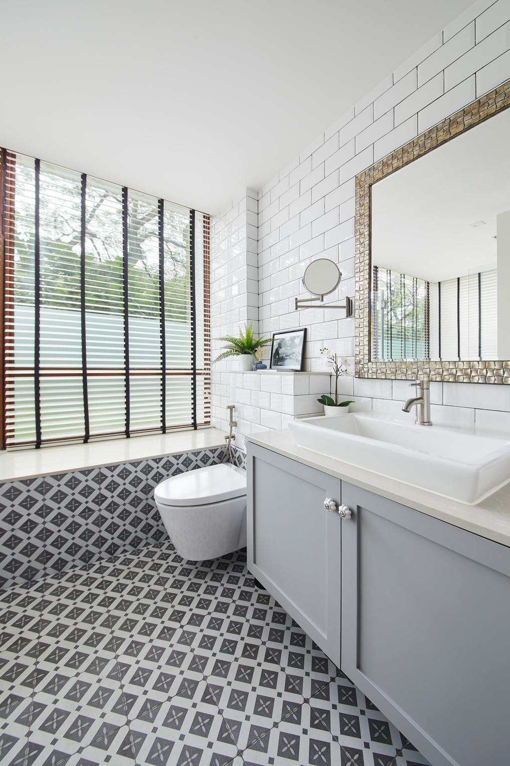 Contemporary, Condo, Bathroom, Upper Bukit Timah, Interior Designer, Black N White Haus