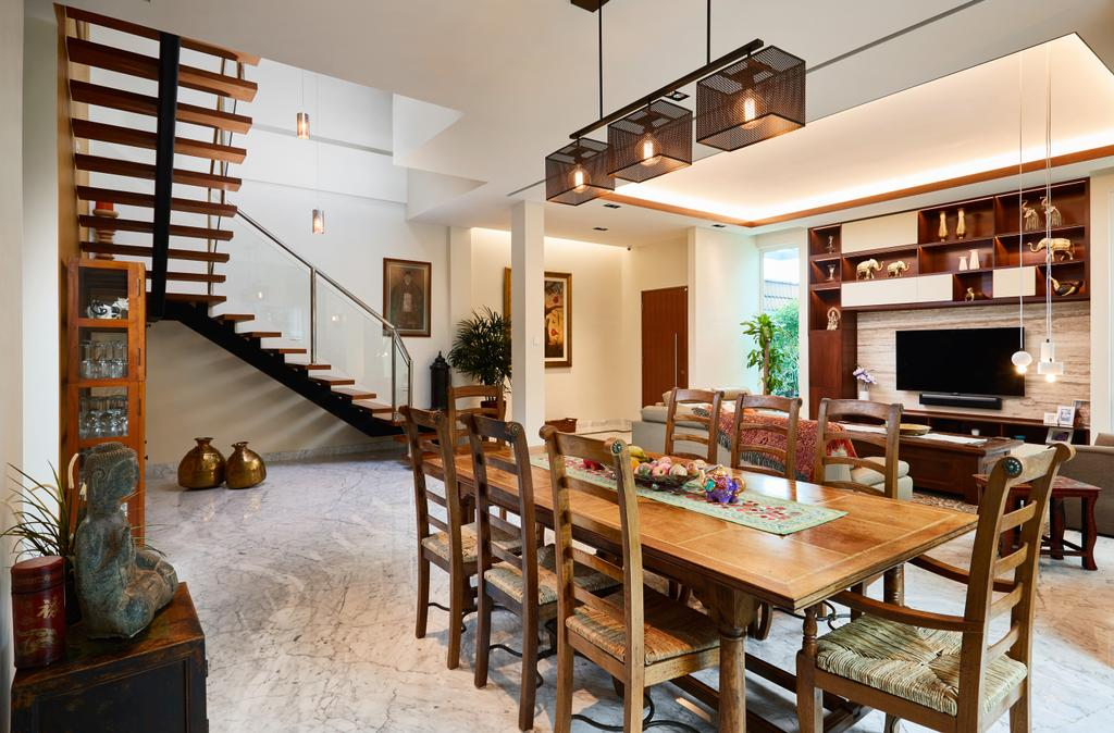 Transitional, Landed, Dining Room, Serangoon Gardens, Interior Designer, Black N White Haus, Contemporary