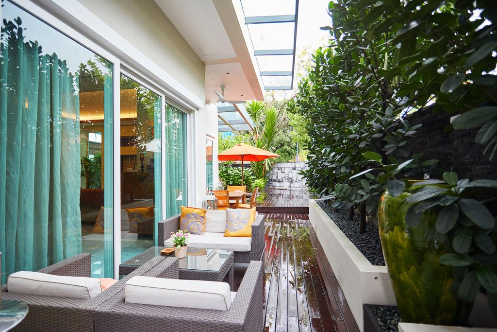 Transitional, Landed, Balcony, Serangoon Gardens, Interior Designer, Black N White Haus, Contemporary