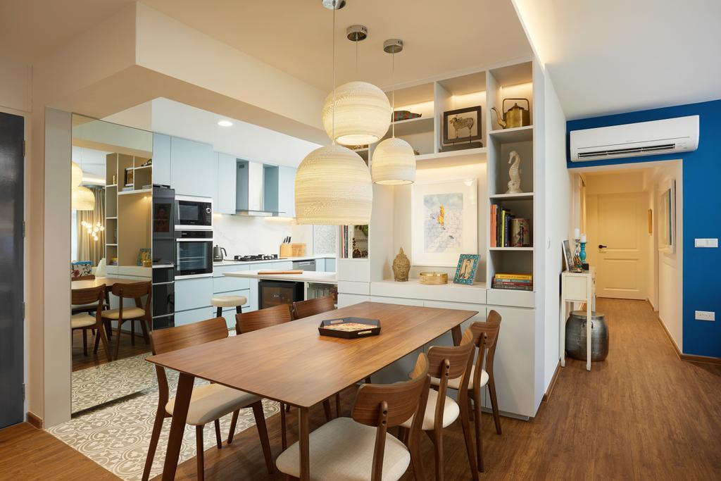 Contemporary, HDB, Dining Room, Holland Drive, Interior Designer, Black N White Haus
