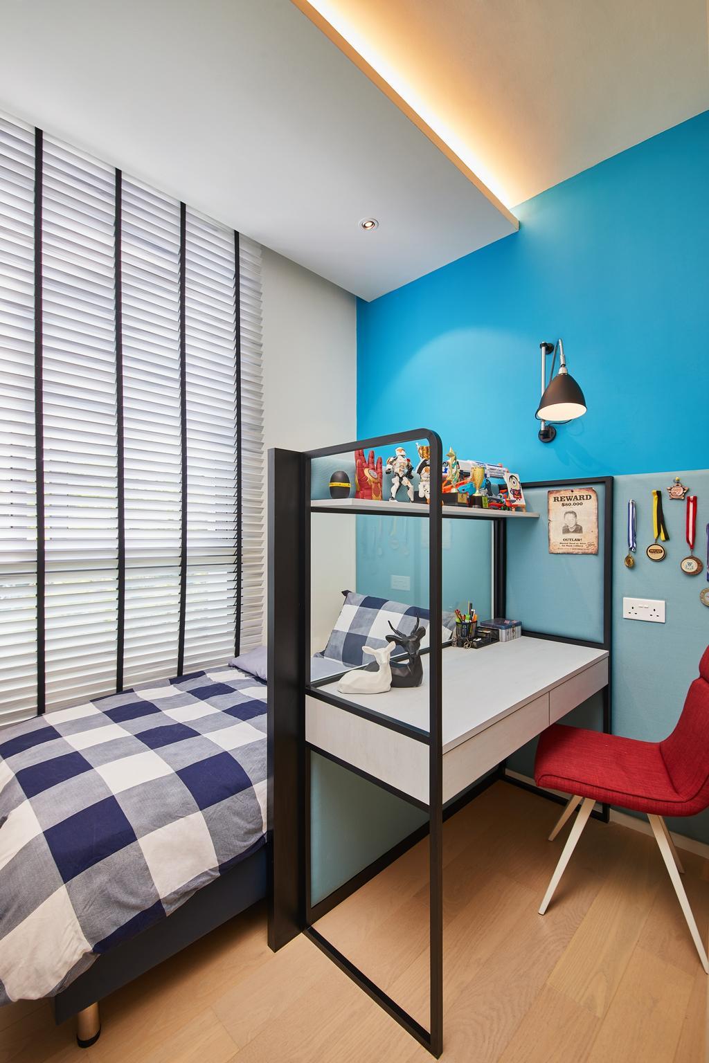 Contemporary, Condo, Bedroom, Upper Thomson Road, Interior Designer, Black N White Haus