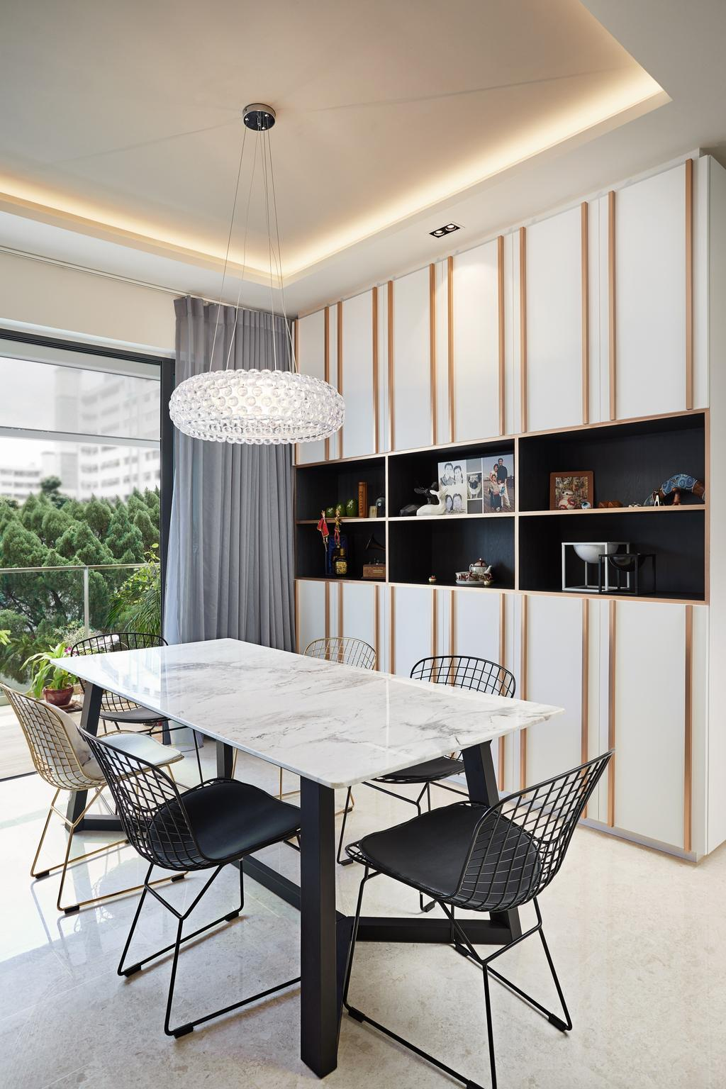 Contemporary, Condo, Dining Room, Upper Thomson Road, Interior Designer, Black N White Haus