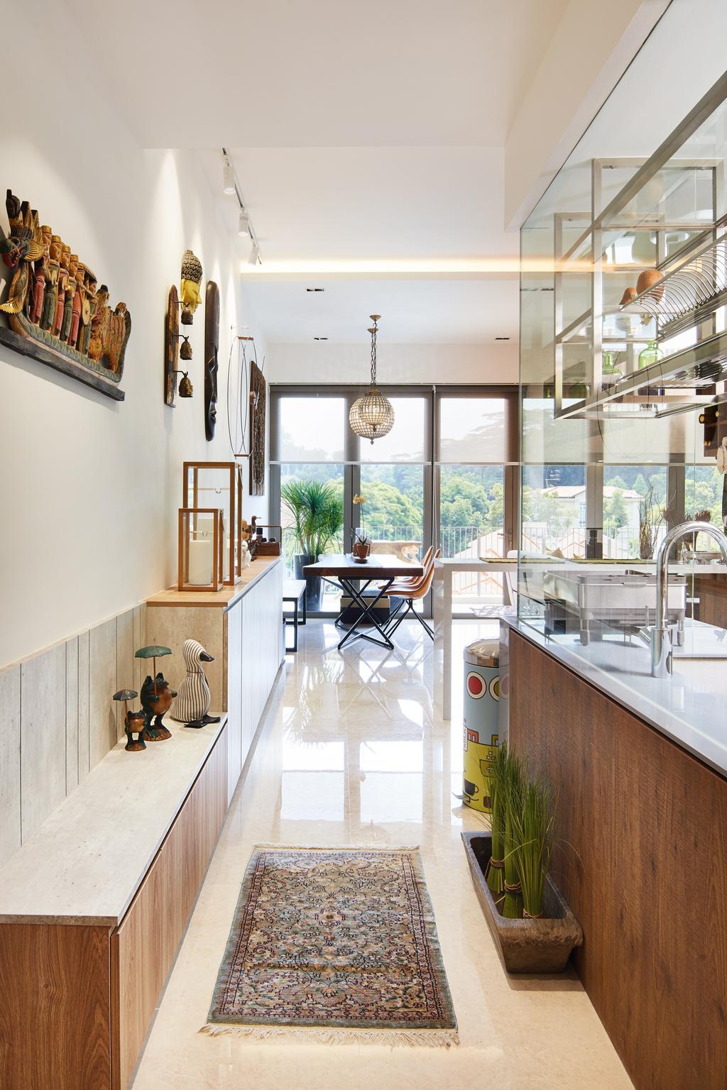 Condo, Kitchen, Bukit Timah Road, Interior Designer, Black N White Haus