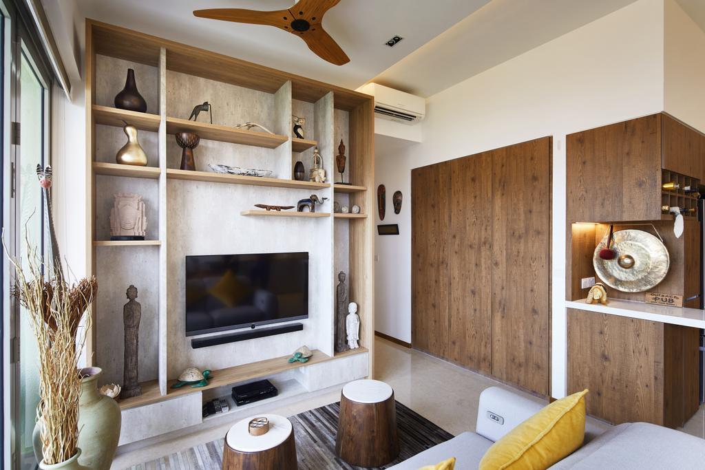 Condo, Living Room, Bukit Timah Road, Interior Designer, Black N White Haus