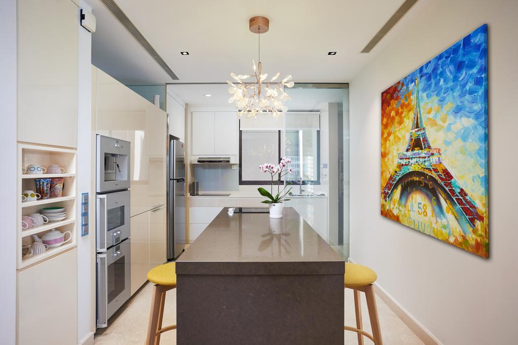 Condo, Kitchen, Meyer Road, Interior Designer, Black N White Haus