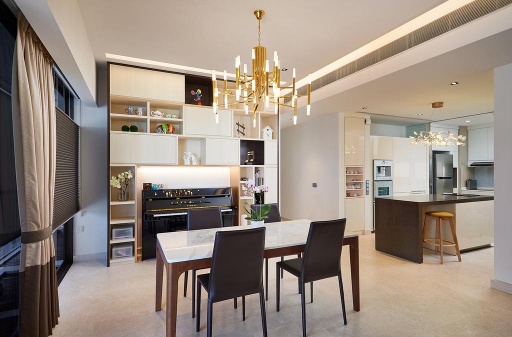 Condo, Dining Room, Meyer Road, Interior Designer, Black N White Haus