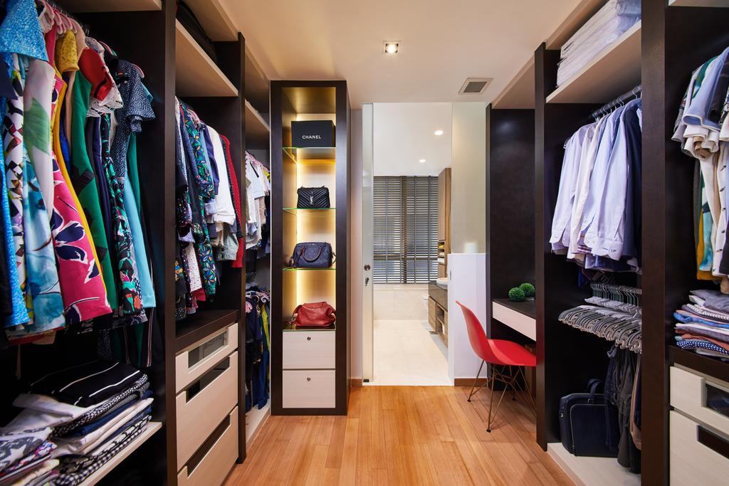 Condo, Meyer Road, Interior Designer, Black N White Haus, Wardrobe, Walk In Wardrobe, Dressing Room, Dresser