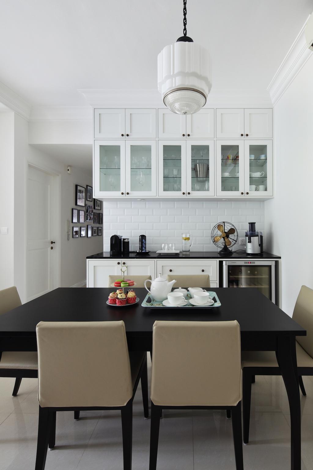 Contemporary, Condo, Dining Room, Bukit Timah Road, Interior Designer, Black N White Haus