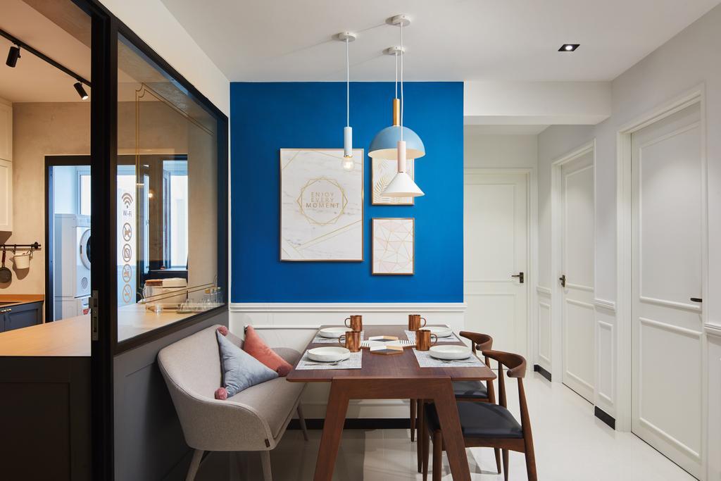 Contemporary, HDB, Dining Room, Woodlands, Interior Designer, Black N White Haus